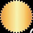 Selo dourado metalizado adesivado liso ou serrilhado, de 40 ou 50 mm