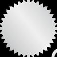 Selo prata prateado metalizado adesivado liso ou serrilhado, de 40 ou 50 mm